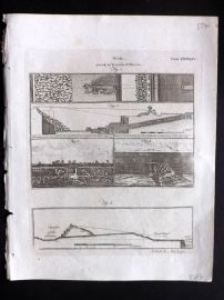 Encyclopaedia Britannica 1797 Antique Print. War 534